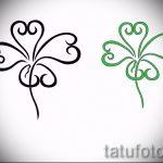 Интересный вариант татуировки эскизы клевер – можно использовать для тату клевер на запястье