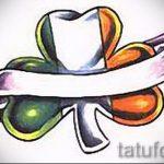 Уникальный вариант тату эскизы клевер – можно использовать для тату листок клевера