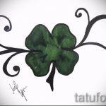 Оригинальный вариант татуировки эскизы клевер – можно использовать для тату клевер на шее