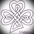 Классный вариант тату эскизы клевер – можно использовать для тату клевер четырехлистный фото