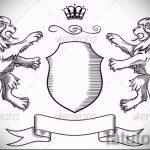 Уникальный вариант татуировки эскиз лев с короной – можно использовать для тату льва с короной и сердцем