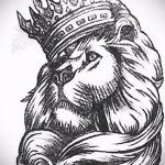 Достойный вариант тату эскиз лев с короной – можно использовать для тату лев с короной тату