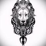 Достойный вариант татуировки эскиз лев с короной – можно использовать для тату лев с короной на спине