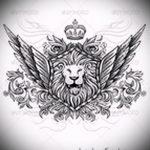 Оригинальный вариант татуировки эскиз лев с короной – можно использовать для тату лев с короной для мужчин