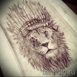 Интересный вариант тату эскиз лев с короной – можно использовать для тату лев с короной и цветком