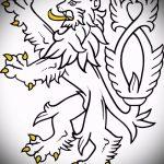 Уникальный вариант тату эскиз лев с короной – можно использовать для тату лев с короной женские