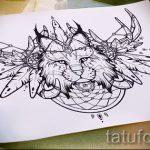 Классный вариант тату эскиз рысь – можно использовать для тату рысь на бедре