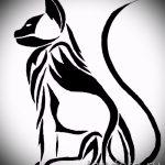 Уникальный вариант татуировки эскиз рысь – можно использовать для тату рысь графика