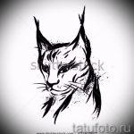 Уникальный вариант татуировки эскиз рысь – можно использовать для тату рысь с оскалом значение