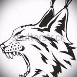 Стильный вариант тату эскиз рысь – можно использовать для тату рысь на бедре