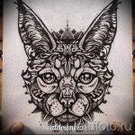 Интересный вариант тату эскиз рысь – можно использовать для тату рысь черная