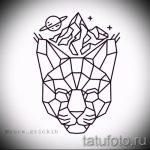 Оригинальный вариант татуировки эскиз рысь – можно использовать для тату рысь геометрия