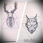 Оригинальный вариант тату эскиз рысь – можно использовать для тату рысь значение на зоне