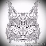 Стильный вариант тату эскиз рысь – можно использовать для смотреть тату рысь