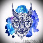 Достойный вариант тату эскиз рысь – можно использовать для тату рысь с оскалом значение