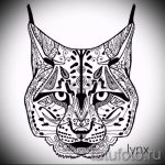 Уникальный вариант татуировки эскиз рысь – можно использовать для тату рысь черная