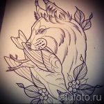 Уникальный вариант тату эскиз рысь – можно использовать для смотреть тату рысь