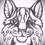 Достойный вариант татуировки эскиз рысь – можно использовать для тату рысь с оскалом значение