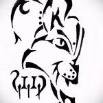 Прикольный вариант тату эскиз рысь – можно использовать для рысь татуировка на плече