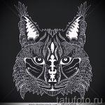 Классный вариант тату эскиз рысь – можно использовать для тату рысь и волк