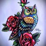 Прикольный вариант тату эскиз филин – можно использовать для тату филин сова