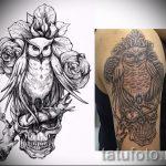 Стильный вариант татуировки эскиз филин – можно использовать для тату филин в доспехах