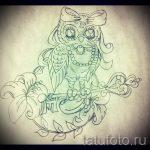 Оригинальный вариант татуировки эскиз филин – можно использовать для тату филин коричневый
