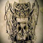 Классный вариант татуировки эскиз филин – можно использовать для тату филин рука