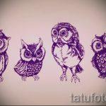 Стильный вариант татуировки эскиз филин – можно использовать для тату филин на плече