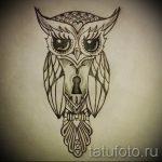 Интересный вариант тату эскиз филин – можно использовать для что означает тату филина на руке