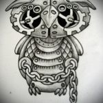 Интересный вариант татуировки эскиз филин – можно использовать для тату филин лес