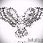 Достойный вариант татуировки эскиз филин – можно использовать для тату филин на запястье