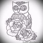 Уникальный вариант тату эскиз филин – можно использовать для тату филин для девушки