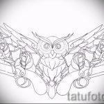 Оригинальный вариант татуировки эскиз филин – можно использовать для значение тату филин или сова