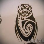Оригинальный вариант тату эскиз филин – можно использовать для тату филин акварель