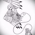 Достойный вариант татуировки эскиз филин – можно использовать для тату филин в доспехах