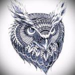 Уникальный вариант тату эскиз филин – можно использовать для тату филин рука