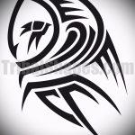Стильный вариант татуировки эскиз филин – можно использовать для тату филин на руке