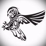Достойный вариант татуировки эскиз филин – можно использовать для тату филин или сова