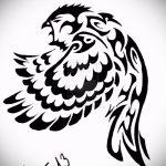 Оригинальный вариант татуировки эскиз филин – можно использовать для тату филин на ноге фото