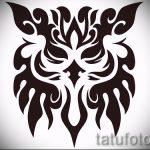 Стильный вариант татуировки эскиз филин – можно использовать для тату филин плечо