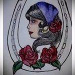 Интересный вариант тату эскиз подковы – можно использовать для тату подкова для мужчин