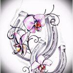 Достойный вариант татуировки эскиз подковы – можно использовать для тату подкова для девушки