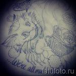 Интересный вариант татуировки эскиз чеширский кот – можно использовать для тату чеширский кот в шляпе