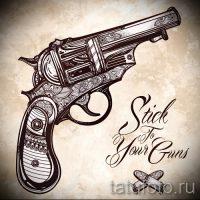 Эскизы тату револьвер