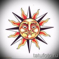 Эскизы тату солнце
