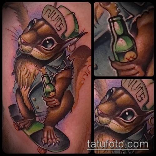 Фото тату белка - варианты готовых татуировок для выбора
