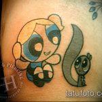 Зачетный вариант выполненной татуировки белка – рисунок подойдет для тату белка в колесе
