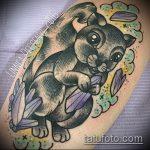 Прикольный вариант готовой татуировки белка – рисунок подойдет для фото тату белка и стрелка