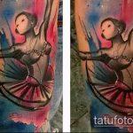 фото тату балерина №482 - прикольный вариант рисунка, который хорошо можно использовать для переработки и нанесения как тату балерины на руке